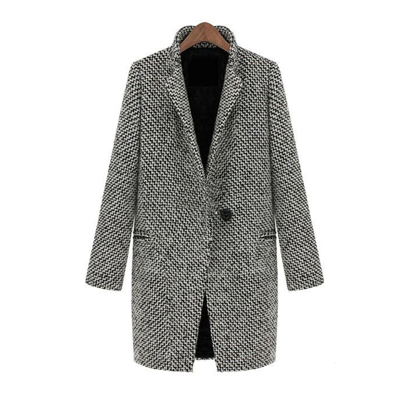 81b06b864e8 Get Quotations · Casacos Femininos Real Women Coats Winter Fashion 2015 Warm  Lapel Overcoat Woollen Coat Long Thick Slim
