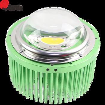 65w Round Shape Led Pin Fin Passive Aluminum Heatsink Profile Use For Cob Cxb3590vero