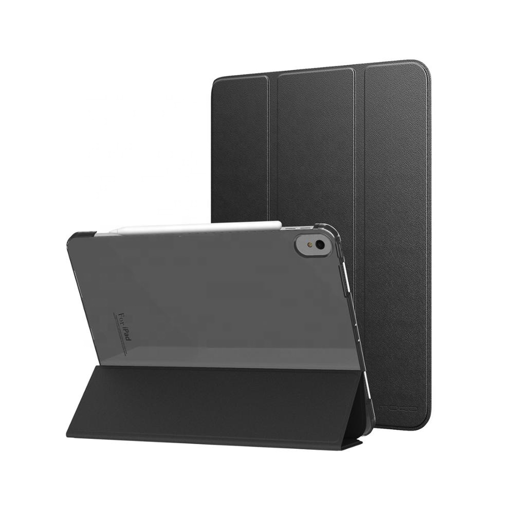 New Slim Lightweight Smart Shell Trifold Stand Cover with Translucent Frosted Back Cover Case with Magnetic for <strong>iPad</strong> Pro 11 2018