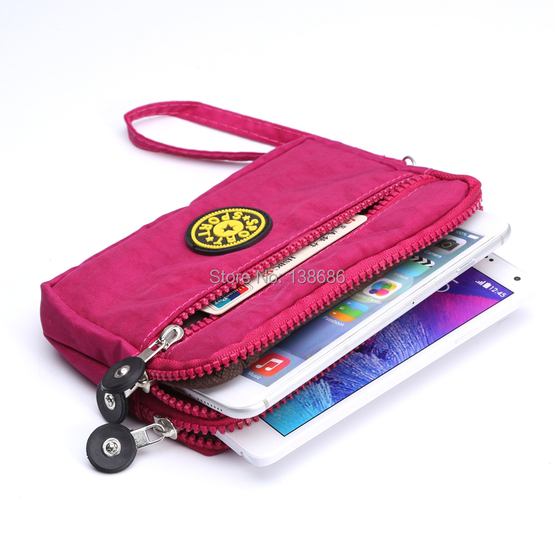 10pcs Zipper Multifunctional Casual Handbags Sports Bag Clutches Purses Cell Phone Pouch For Samsung Note 2 3 And Other Phones In Price On
