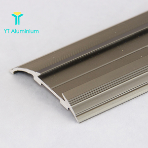 Bronze Anti-Slip Stair Edge Aluminium Stair Tread Extrusion Flat Step Nosing For Tile To Carpet Trim