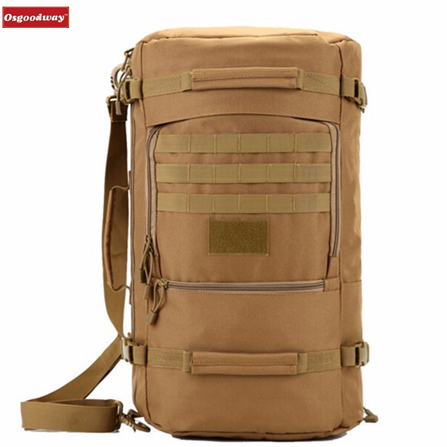 Osgoodway Multi-function Waterproof Nylon Military Tactical Travel Backpack Camouflage Backpacks Bags for Camping