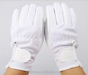 Z-shaped knitted equestrian glove cotton fabric glove TOP QUALITY GLOVE