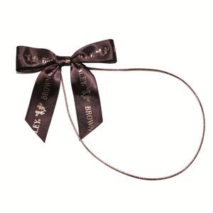 chocolate pre-tied loop ribbon bow