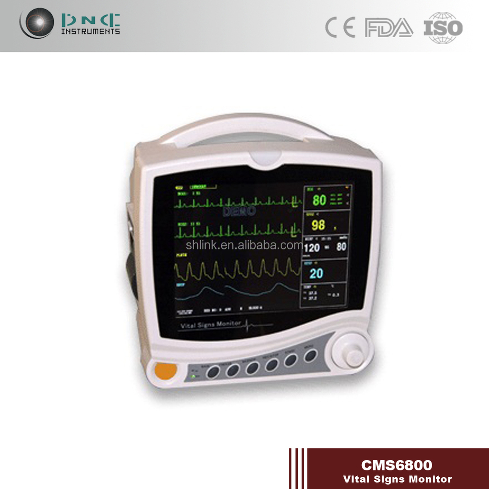 7-lead Advanced Medical Equipment Cms6800 Patient Monitor