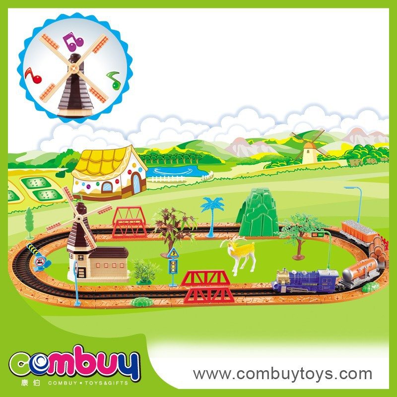 2016 new product self assemble toys electric train toy set