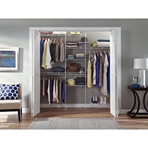 Get Quotations · Closetmaid Closet Organizer Kit With Shoe Shelf, ...