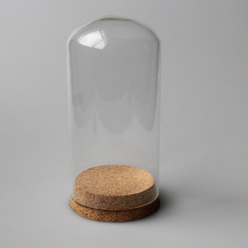 Round Top Clear Glass Bottle Cork Lid 700ml Large Glass Airtight Jar
