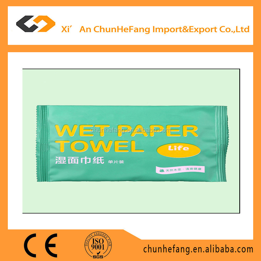 One Piece Individual Wrapped Cleaning Wet Wipe Tissue