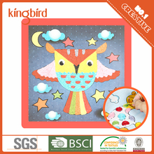 Christmas paper painting with colorful rope wholesale