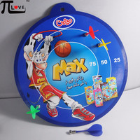 Popular promotion gifts custom magnetic kids safety dart board for game