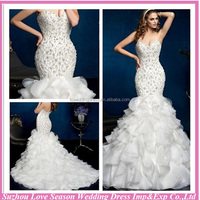 WD1815 Beautiful Cheap Made in China New Style Asymmetric Hemline Chiffon Mermaid Alibaba Wedding Dresses in Dubai
