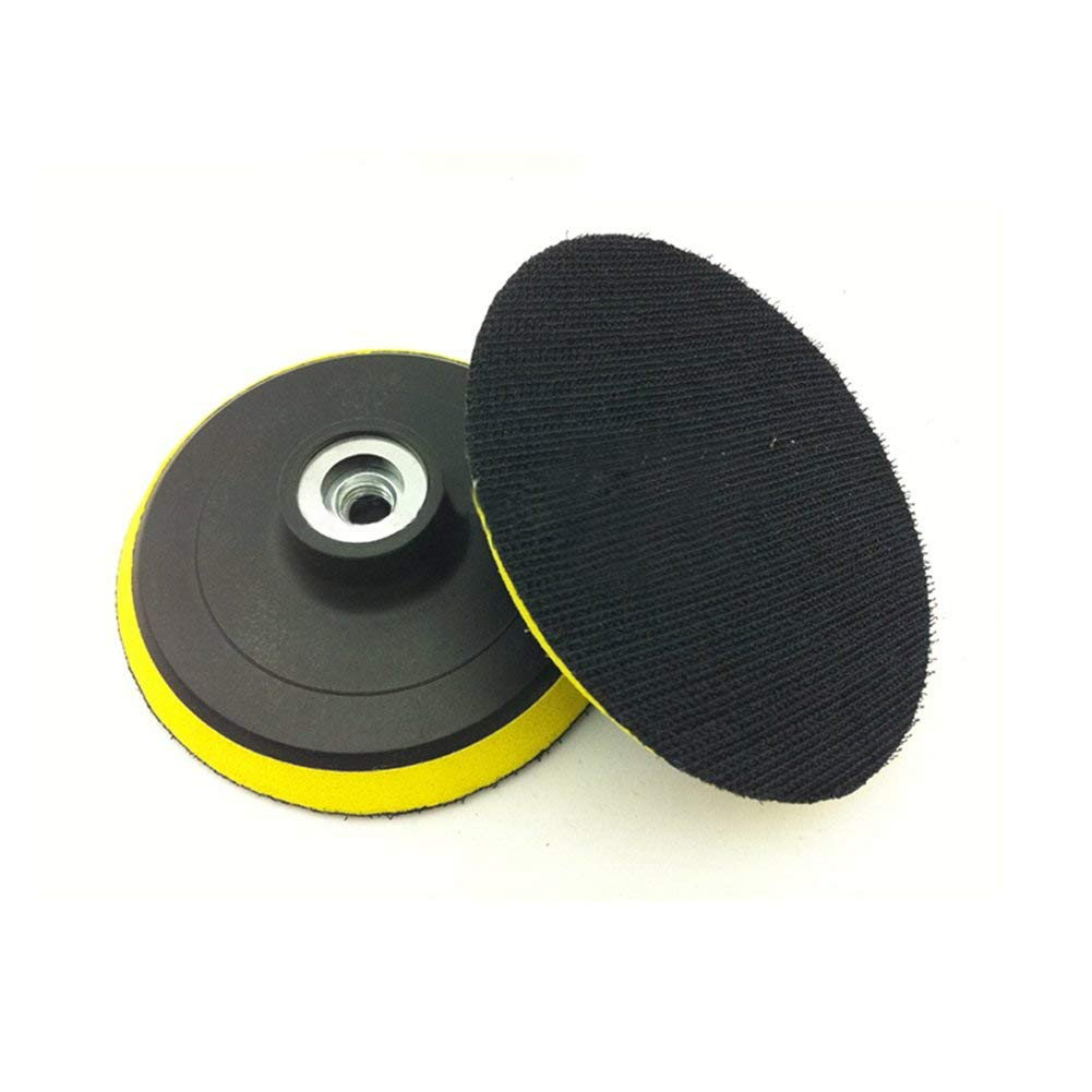4 Inch/100mm Magic Sticker Backing Pad Orbital Sander Polisher Sanding Pad, Hook And Loop Backing Pad with Power Drill Adapter, Self-adhesive Type Grinder Polishing Disc