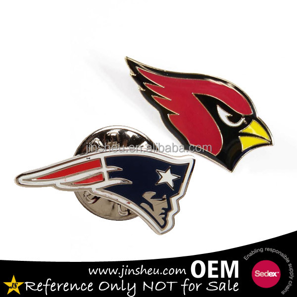 Souvenir Personalized Football Team Logo Custom NFL Lapel Pin
