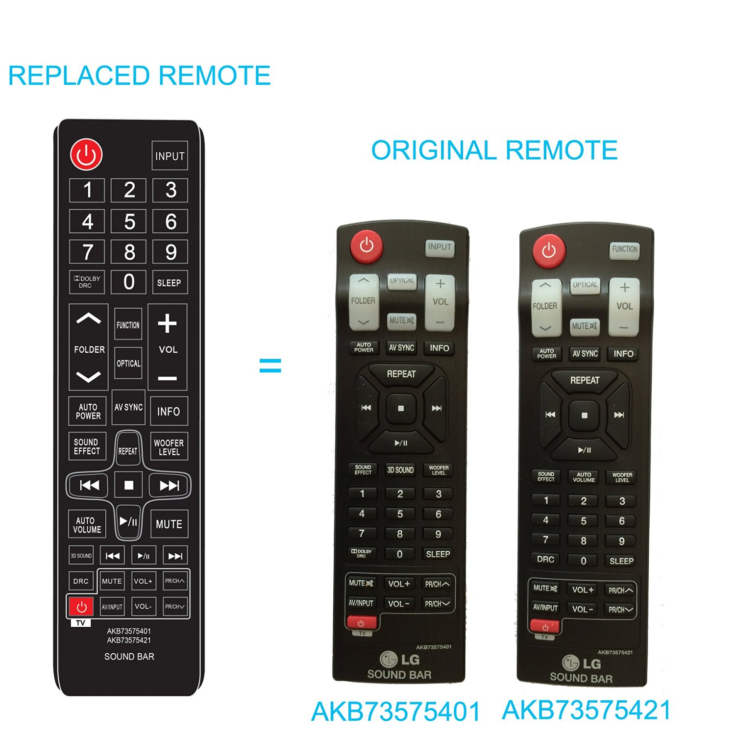 Buy New LG Sound bar Replaced Remote AKB73575401 AKB73575421 fit for
