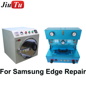 LCD Repair Machine For Samsung S8 Edge S7Edge Screen Repair JIUTU OCA Laminating Bubble Remove Machine Need Vacuum Pump Air Comp