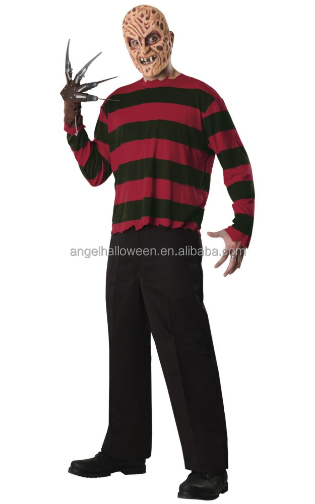Freddy Krueger A Nightmare on Elm Street Horror Movie Men Costume AGM3450