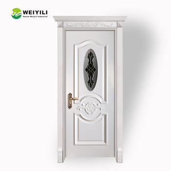 White Color Pvc Interior Doors Mdf With Glass Inserts Buy Interior