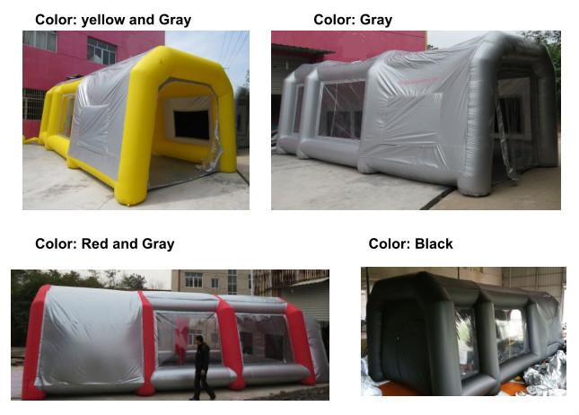 Inflatable garage tent, inflatable spray paint tent for car, inflatable car tent for sale