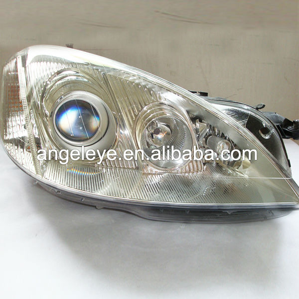For Mercedes-Benz W221 S350 S500 S600 Angel Eyes Headlight Chrome Color V1