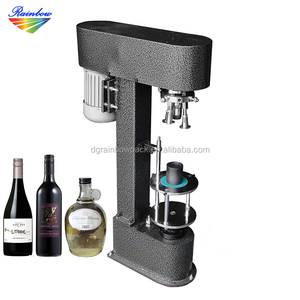 Semi-automatic cap capper / glass bottle screw capping machine