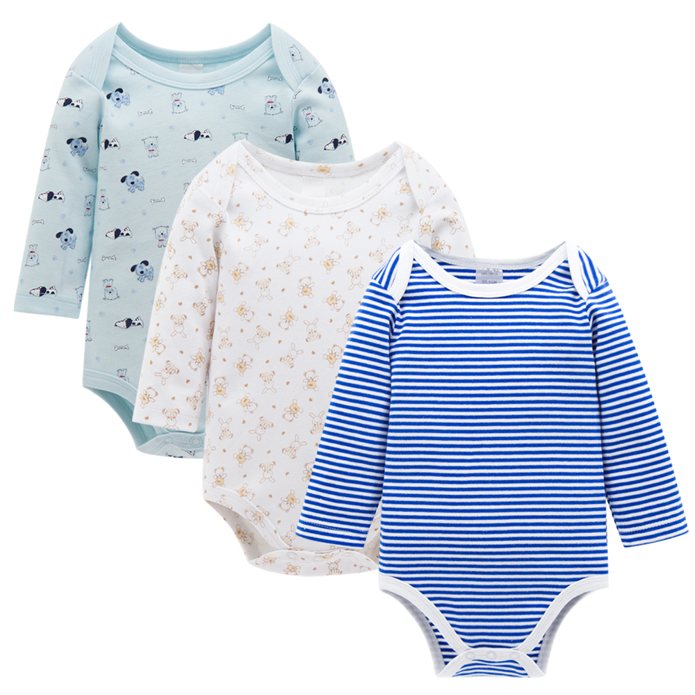New Good Quality Baby Clothes Spring Autumn Winter 100%Cotton Long Sleeves with Stripes Newborn Infant Baby Bodysuits