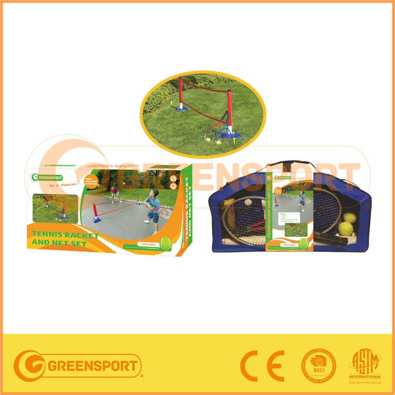 Tennis racket and net set for kids training