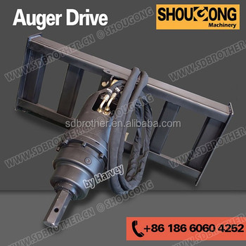 fence post driver for skid steer