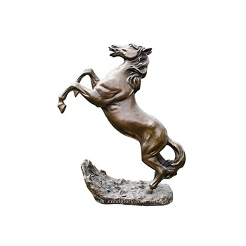 Metal art product Design Life Size bronze Jumping horse statue
