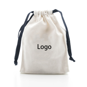 small printing logo cotton velvet drawstring jewelry pouch bags for bracelet