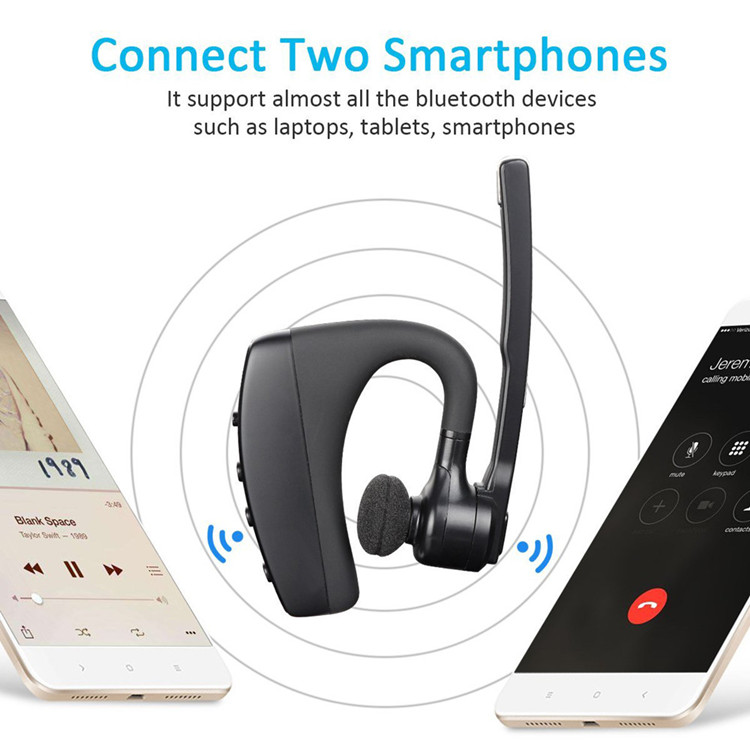 2019 new superior quality dual mics noise cancelling  business wireless earphone bluetooth headset for driver