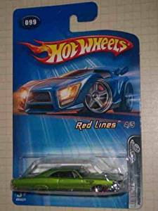 Red Lines 2005 Series #4 Pontiac Bonneville Malaysia #2005-99 Collectible Collector Car Mattel Hot Wheels