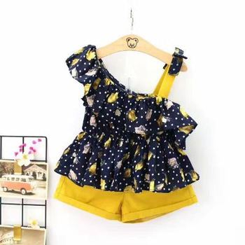 New design summer baby girl clothes boutique Casual Kids Clothing Baby Girls Clothes kids baby suit clothing