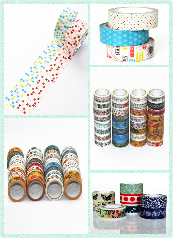 Free Shiping Cute Custom Printed Christmas Washi Packing Tape ...