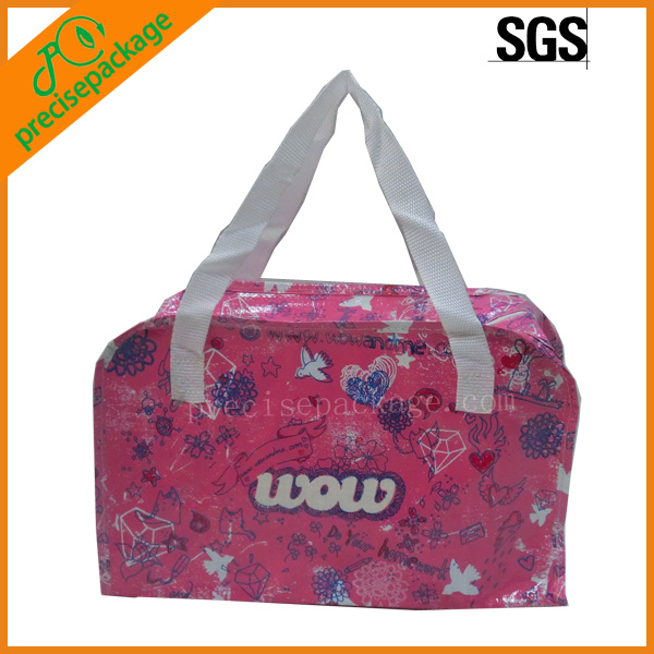 Cute Laminated PP Woven Toiletry Bag