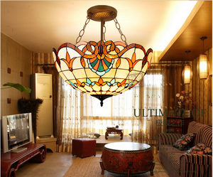 China Suppliers Tiffany Style Hanging Lamp Tiffany Floral Lamp
