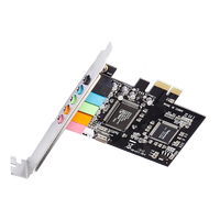 stereo Line-in with 3.5mm Jack black board PCI express 6 channel sound card
