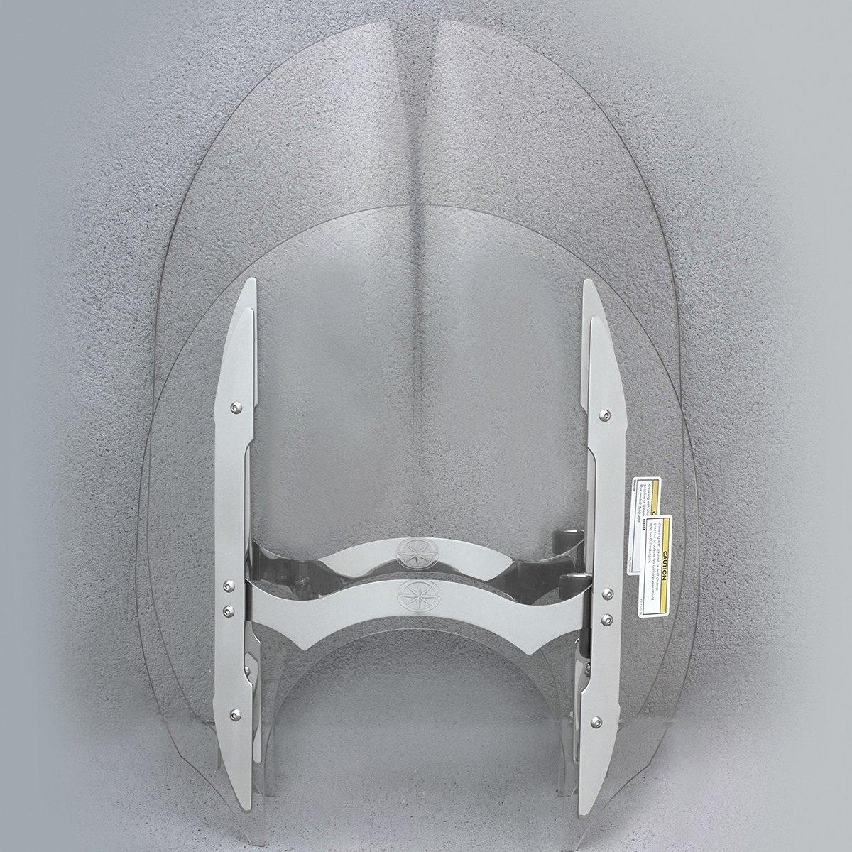 "Genuine Yamaha O.E.M. Raider Quick-Release Windshield Short Windshield (14"") pt# 5C7-F83J0-S0-00"