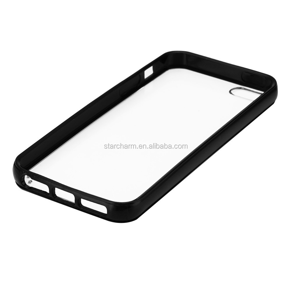 PC hard back case+tpu bumper phone case for iphone5s