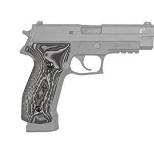 Hogue Sig P226 Grips, DA/SA Magrip, Chain Link G-10 G-Mascus, Black-Grey