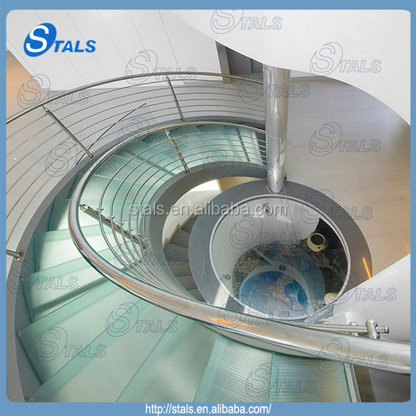 Attirant Stair Parts Stainless Steel Glass Spiral Staircase   Buy Stainless Steel  Glass Spiral Staircase,Spiral Staircase,Modern Spiral Staircase Product On  Alibaba. ...