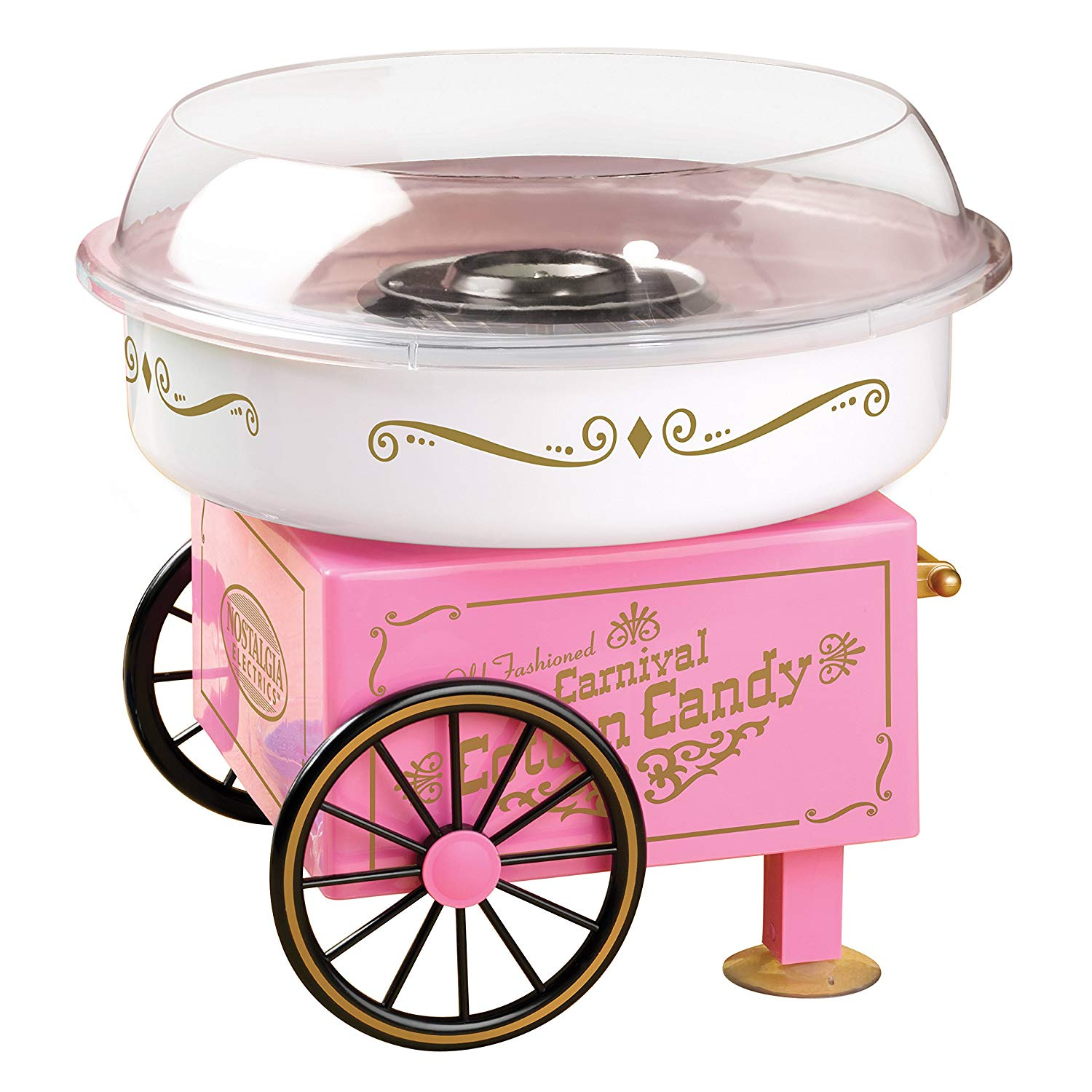 Nostalgia Electrics Vintage Hard and Sugar-Free Candy Cotton Candy Maker, Cotton Candy Machine