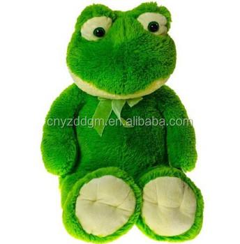 Giocattolo della peluche rana verde grande rana giocattolo della