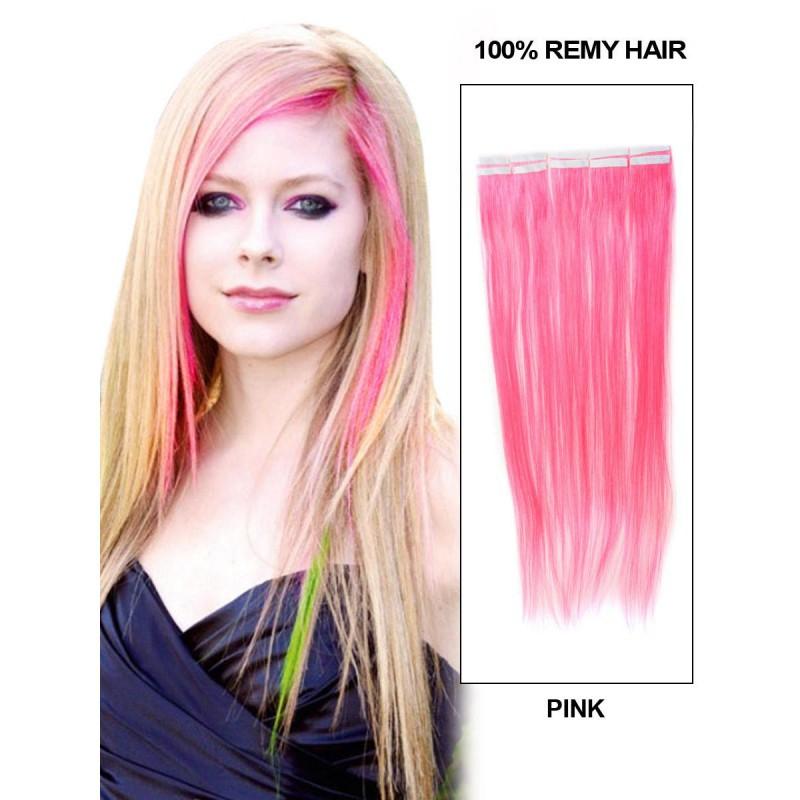 Buy Pretty Pink Color Cheap 20 Pcslot Straight Human Brazilian Remy