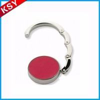 Large Supply Factory Promotion Price Table Top Foldable Wedding Favor Fodable Key Ring Bag Purse Hanger With Magnet