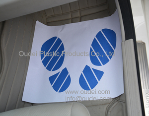 Disposable kraft white paper car floor mat with rolling