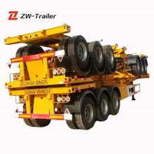 High Quality 20Ft 40Ft Used Skeleton Semi Trailer Container Chassis For Sale