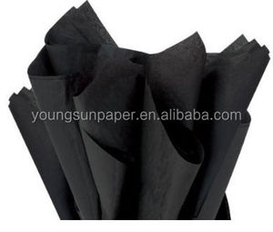 China paper mill mg printing black tissue paper custom black tissue paper