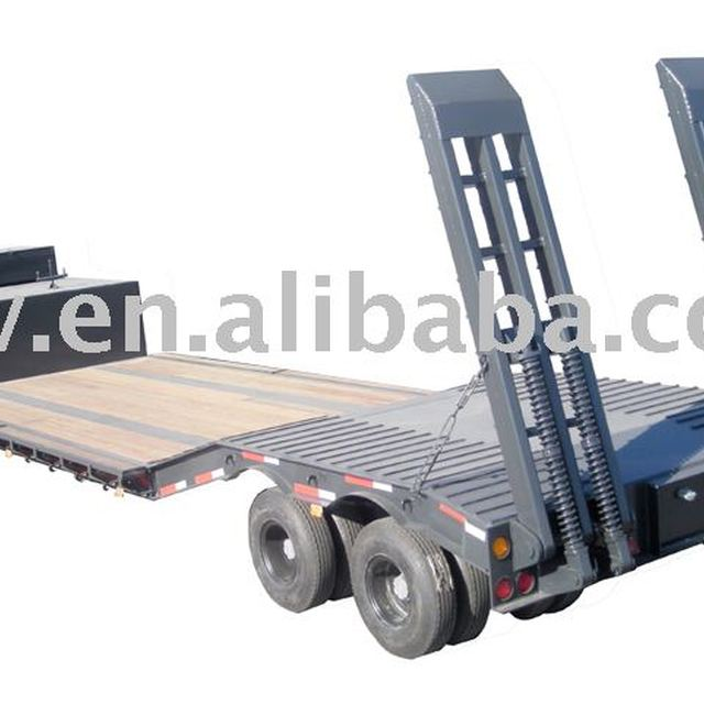80T or 90T Low bed trailer with Argo Bogie Suspension