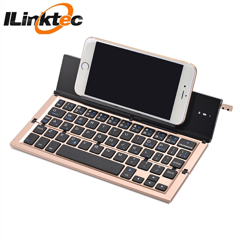 Portable Wireless Bluetooth Mini Keyboard Universal Ultra-slim Folding  Bluetooth Aluminum Keyboard For Tablets And Smart Phone - Buy Portable